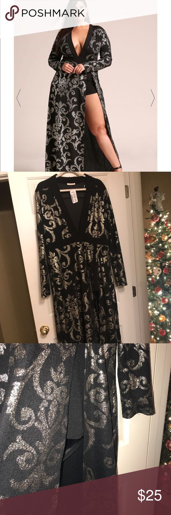 DEB shops Maxi Romper Dress Beautiful stretchy fabric. Romper with a maxi dress built over it with a split to reveal the romper. Did not fit me but it's beautiful! Deb Dresses Maxi