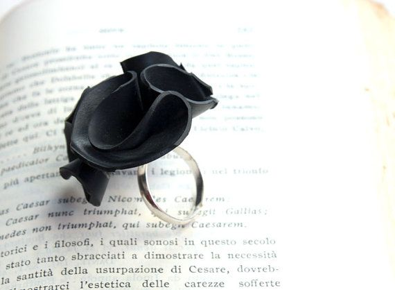 ring made from upcycled inner tube