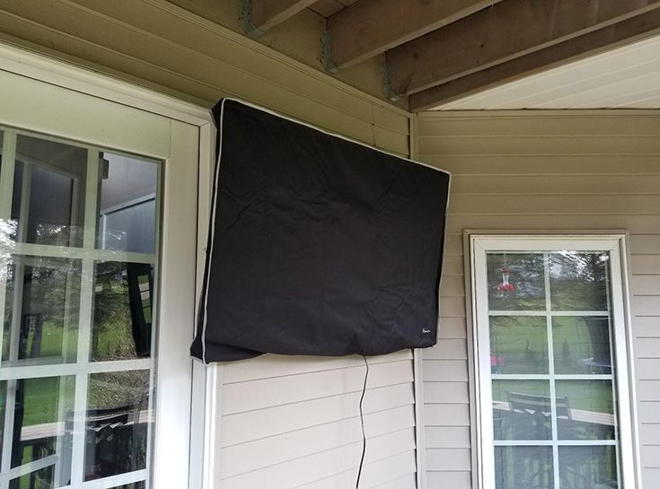 If You Hang A Tv Outside Should Think About How To Protect Your Weatherproof Cover Is An Elegant And Inexpensive Solution Which Will Keep