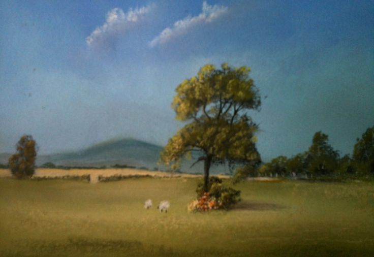 Gloucester countryside Pastel