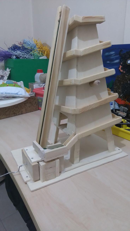 hidrolik kol asansörlü bilye yolu - marble machine