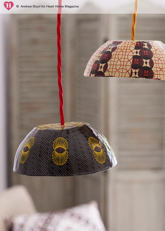 Cultured Home Accessories --- African wax print lampshades