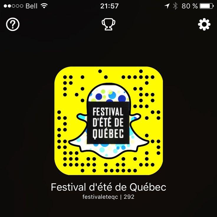Ajoutez le Festival d'été de Québec sur Snapchat!
