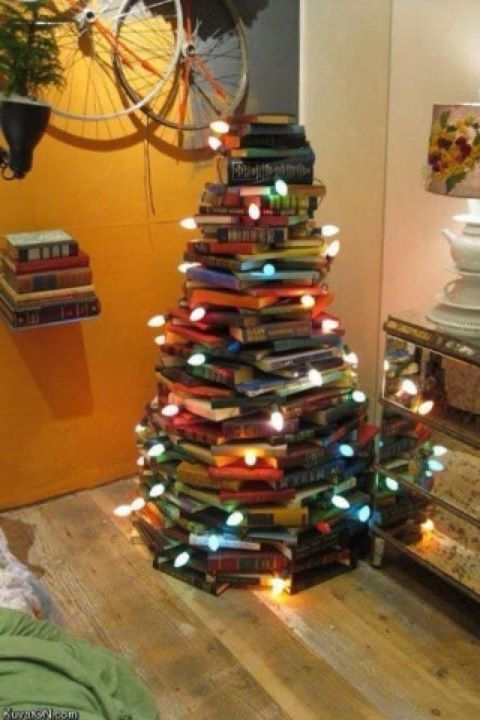 christmas tree made out of books hardback book christmas tree literature  lit gifts awesome tree festive