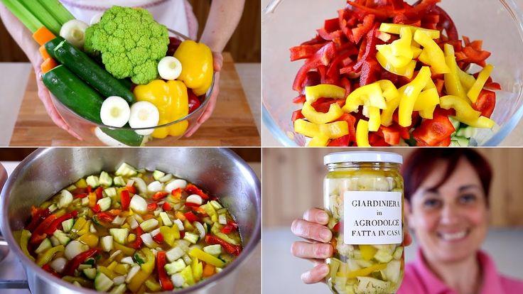 GIARDINIERA IN AGRODOLCE FATTA IN CASA Ricetta Facile - Sweet & Sour Pic...