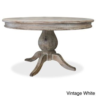 @Overstock.com - 'La France' Pedestal Dining Table - The La France round dining table is inspired in french tables found in the 18th century.  Made with 100% solid premium Alder hardwood from Oregon, this beautiful table is artisan crafted in every detail.  http://www.overstock.com/Home-Garden/La-France-Pedestal-Dining-Table/8401587/product.html?CID=214117 $1,459.99