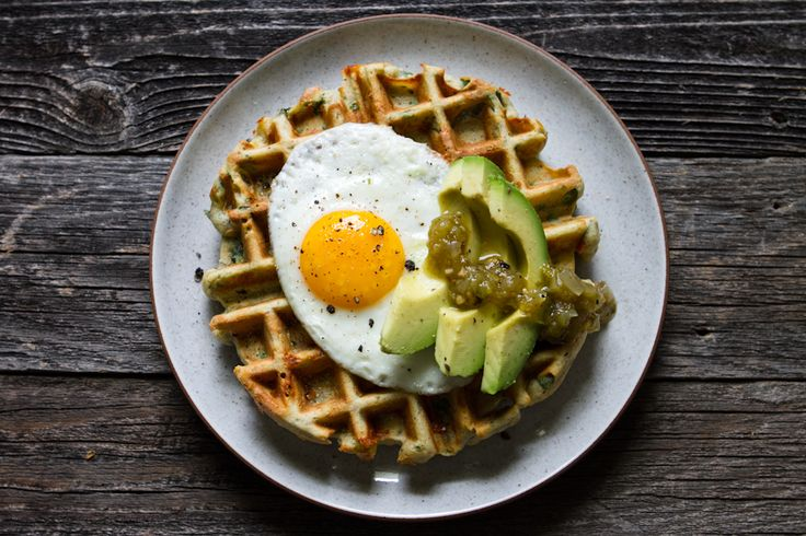 Savory Spinach + Cheese Waffles | Breakfast | Pinterest