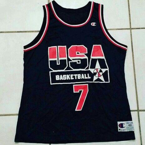 Vintage CHAMPION USA Olympics Shawn Kemp Basketball Jersey  basketball  jerseys nba retro hoops vintage  10d8bf1ee