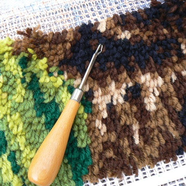 Latch hook a rug or wall hanging using your own patterns.