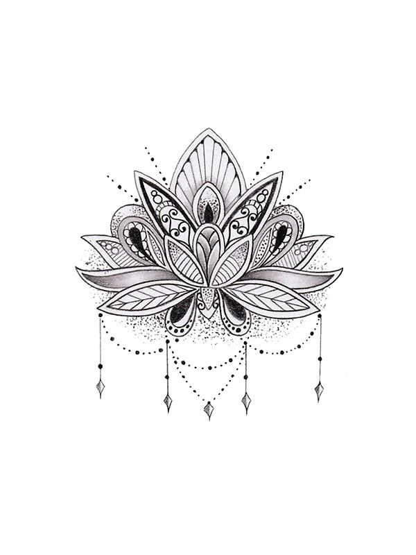 Mandala Lotus Flower by mermaidnatalie