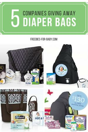 Get 5 Free Diaper Bags from companies like Gerber, Similac, Enfamil, Nestle, more