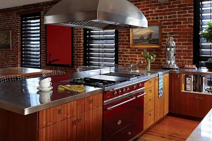 17 best images about future home red brick on pinterest for Kitchen bricks design