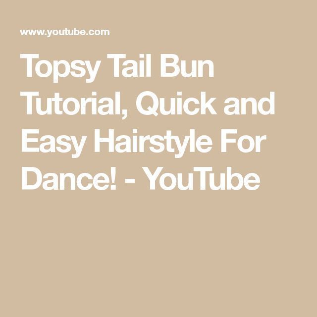 #Bun #dance #Easy #Easy Hairstyles for dances #Hairstyle #Quick,