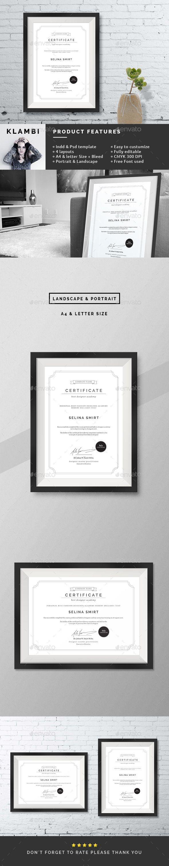 25+ best Certificate design template ideas on Pinterest