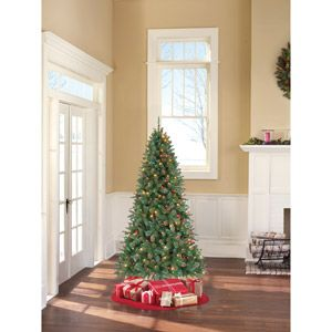 Holiday Time Pre-Lit 7' Duncan Fir Artificial Christmas Tree, Multi-Color Lights: Time Prelit, Pine Pencil, Pine Artificial, Clear Lighting, Brinkley Pine, Artificial Christmas, Holidays Time, Pencil Artificial, Christmas Trees