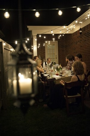 Birthday dinner party in the backyard. Beautiful and simple.