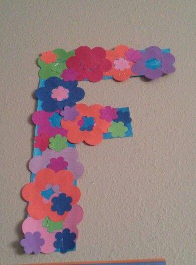 Preschool letter F: Flower