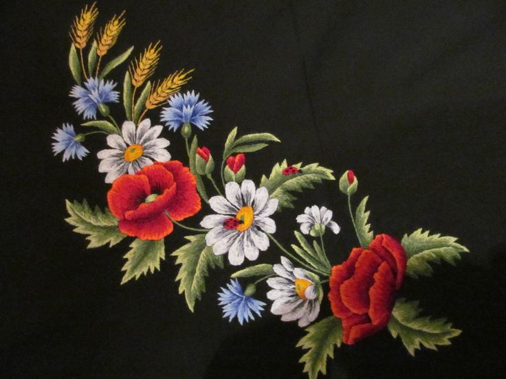 Hand-embroidery for dress. Author: Sirje Õnnis from Estonia