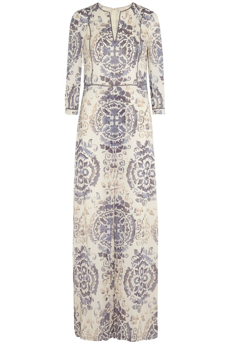 Tory burch stacy floral print maxi dress