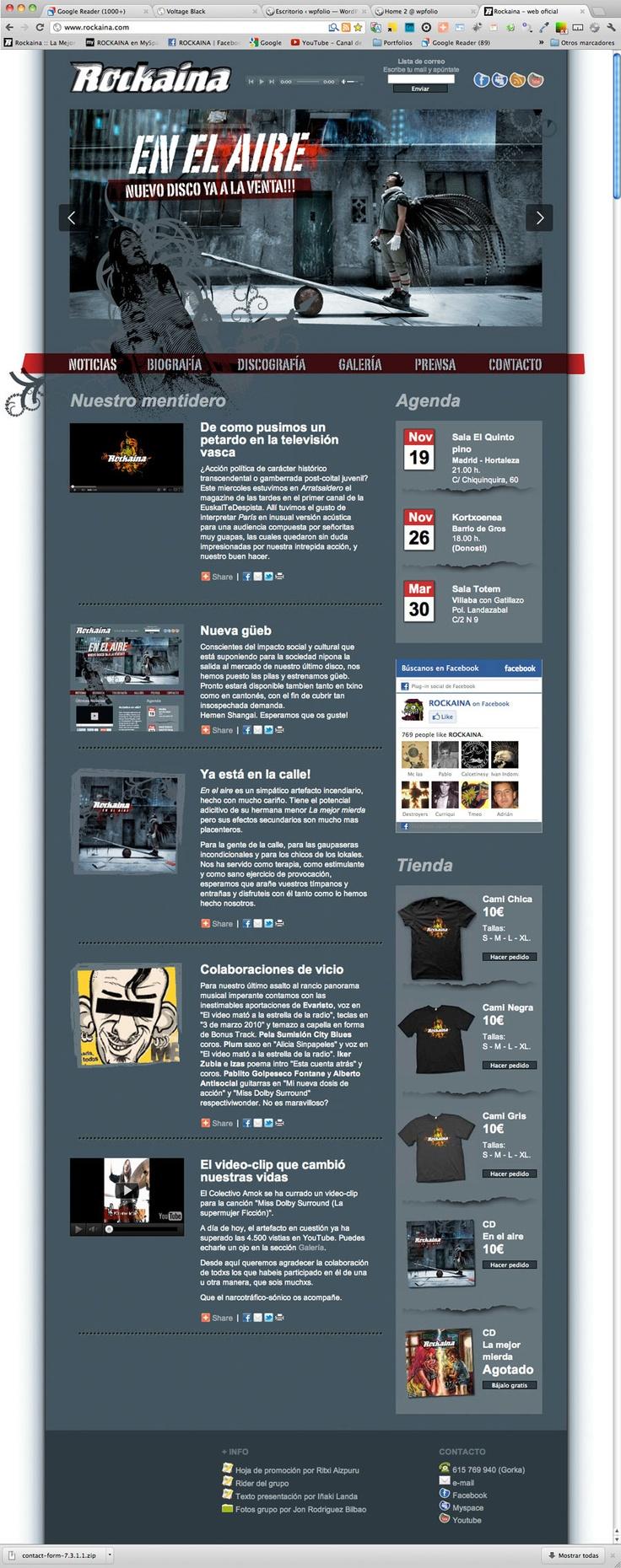 Página web para Rockaina: http://www.rockaina.com