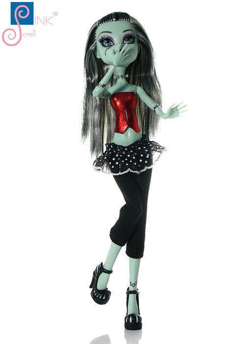 Monster High clothes dress set: Pinkscroll Monster by Pinkscroll