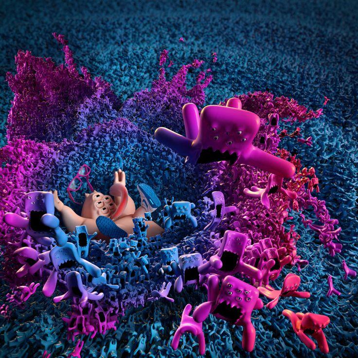 #adobecc #art #bymelt #fafankula #artwork #splash #monsters #cute #simulation #adobe