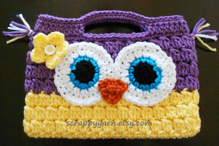 free crochet owl purse patterns