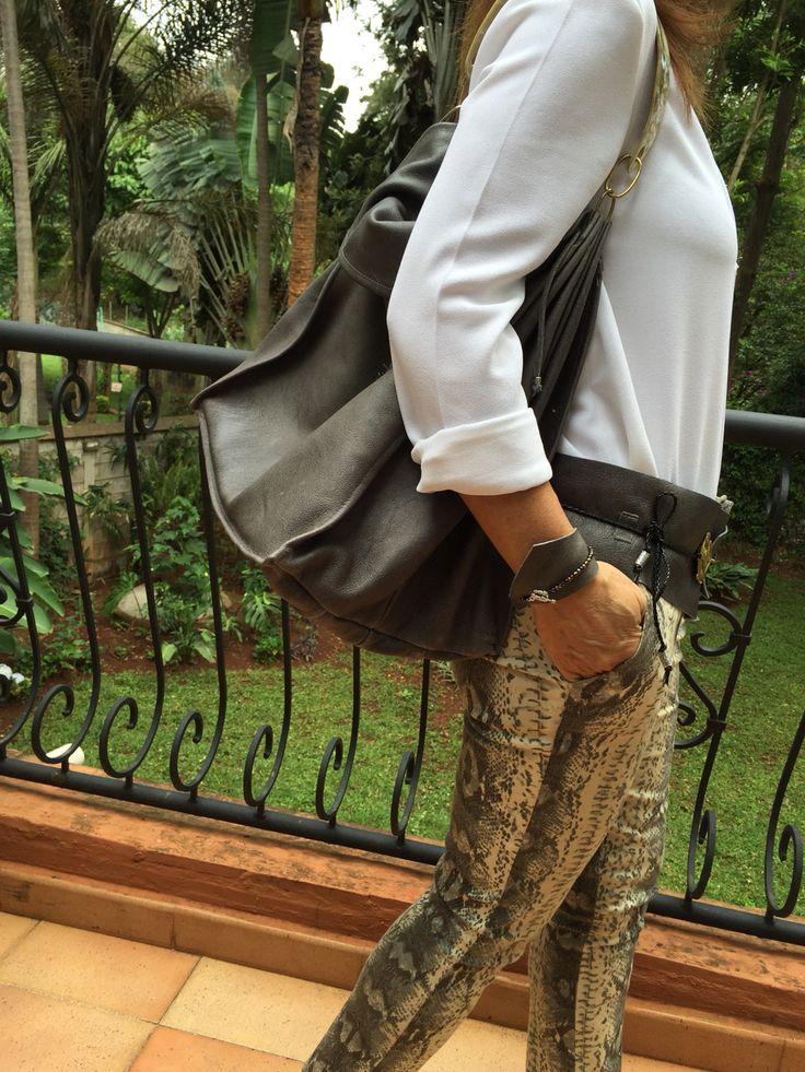 Leather bag made In Kenya by italian designer.