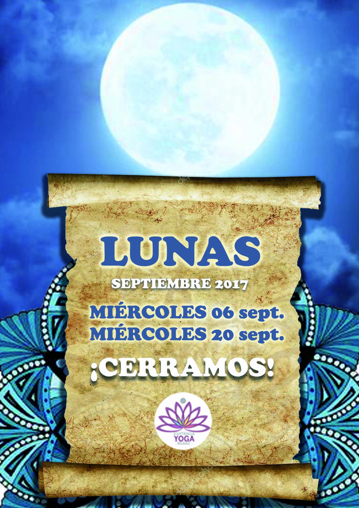 Mañana miércoles 6 de septiembre es día de luna llena y cerramos las clases.  ¡Tómate un descanso y te esperamos el jueves! http://www.ashtangayogabikbao.com/lunas.php . Tomorrow Wednesday the 6th is a full moon day and we close our classes.  Take rest and we await for you on Thursday! http://www.ashtangayogabikbao.com/lunas.php
