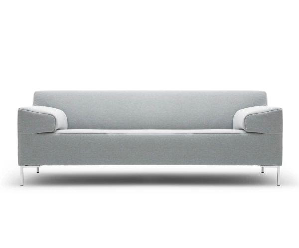 Divano3 posti e mezzo freistil 180 grigio chiaro, 200x73x91 cm