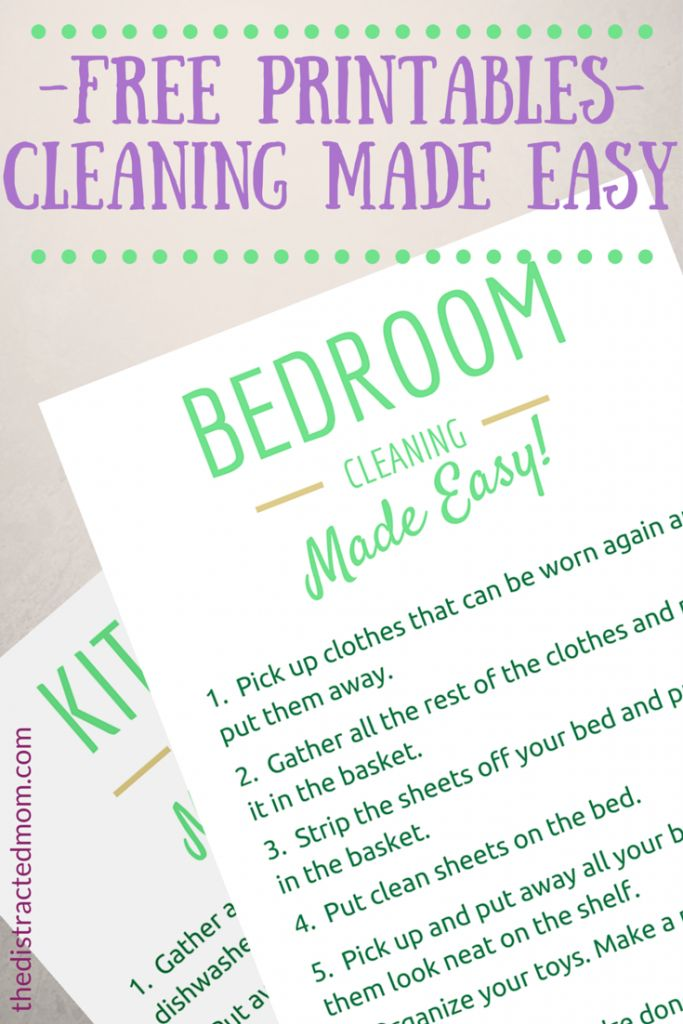 ADHD Household Maintenance Made Easy - 6 Tips for making housecleaning easier. Plus: FREE downloadable PDFs to help your ADHD kids avoid cleaning overwhelm! from thedistractedmom.com