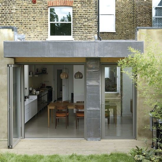 Nice way of blending the necessary column into the rear glazing, and the lead canopy ties it all together