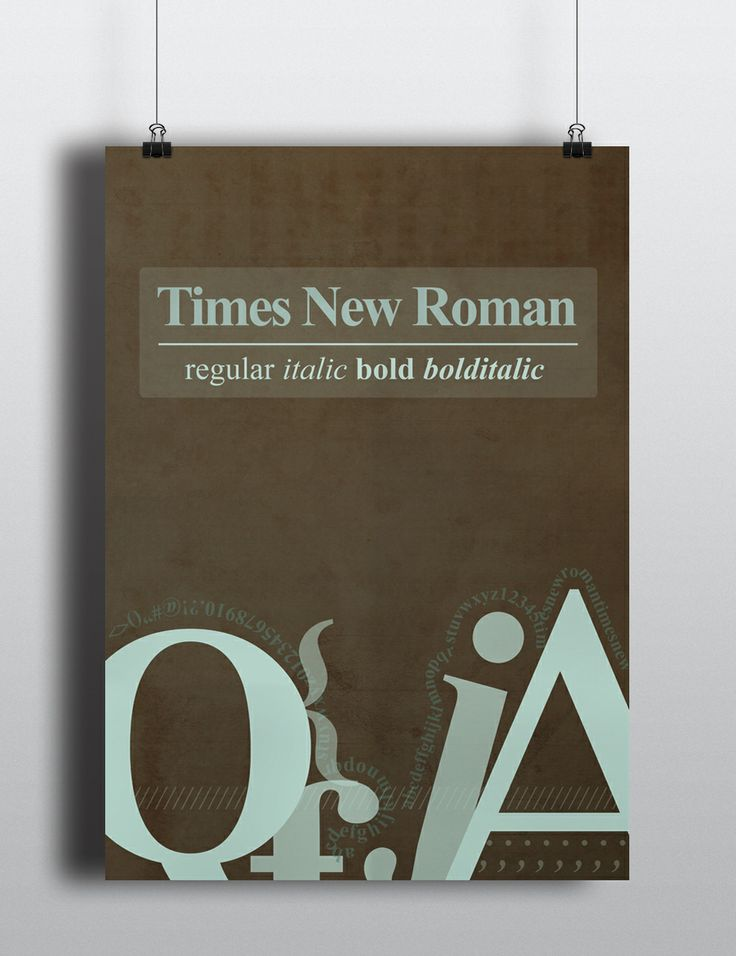 Poster Times New Roman - Opdracht grafische vormgeving 1