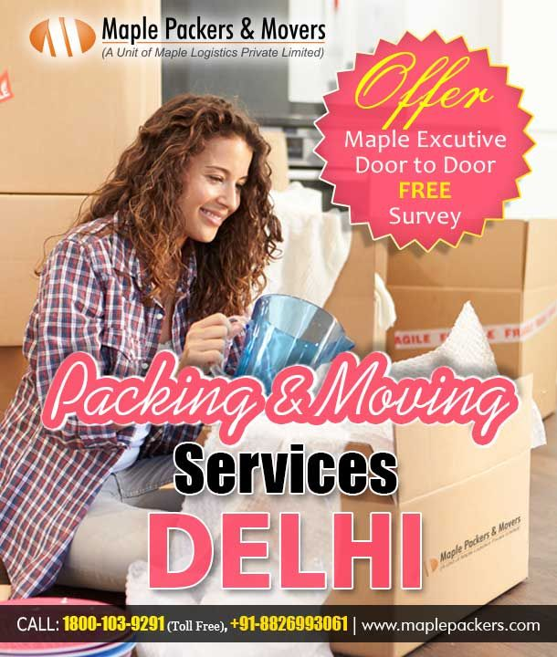 Packers and Movers Delhi - Maple Packers and Movers is a unit of maple logistic is an ISO 9001:2000,14000,18000 certified Bank approved logistic company in India. we offer best packaging and moving, unloading and uploading, transportation services etc. If any Information Contact Us. +91 8826993061