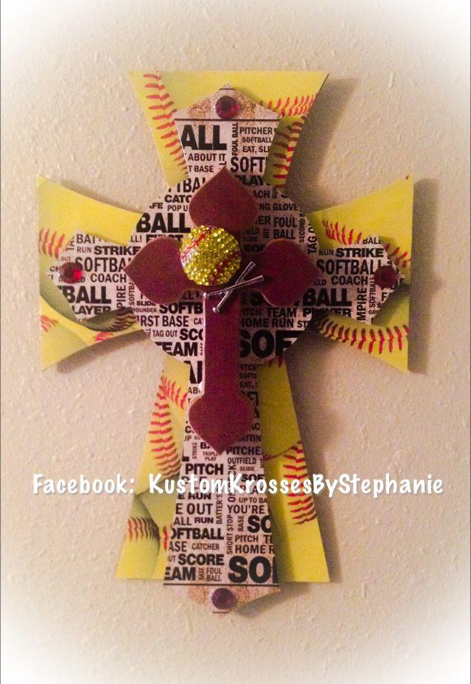 Softball Wall Cross, but instead of a softball a Volleyball themed wall cross.