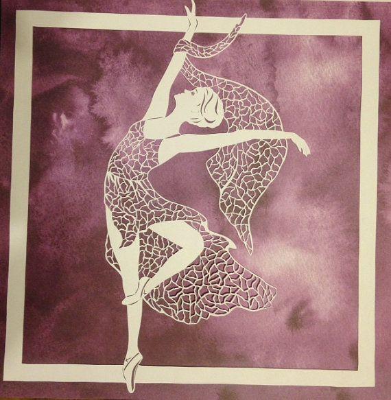SOLDOriginal hand paper cut-Ballerina by DESIGNPAPER on Etsy