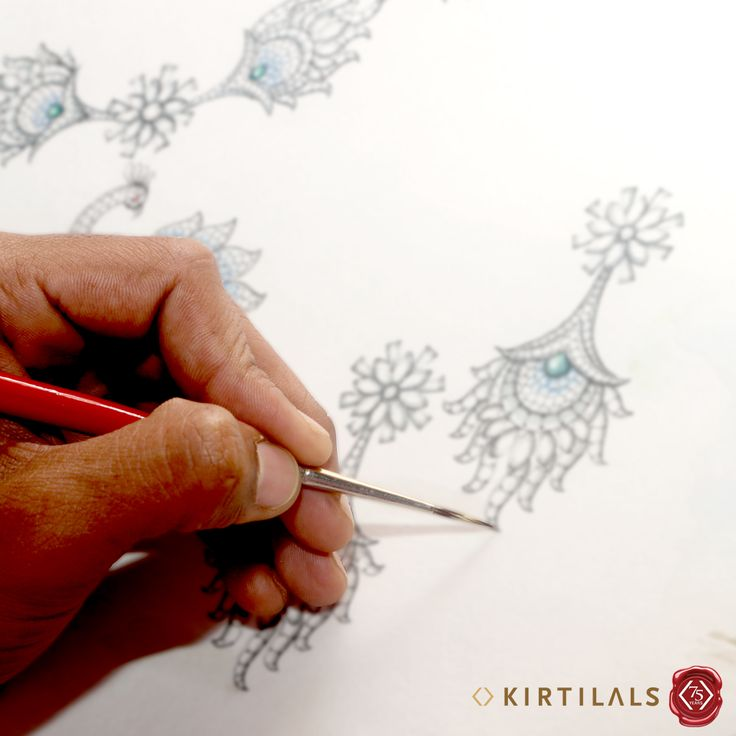 #JewelleryMaking #Step1 : Designing – What you will wear tomorrow is being brought to life on paper today!