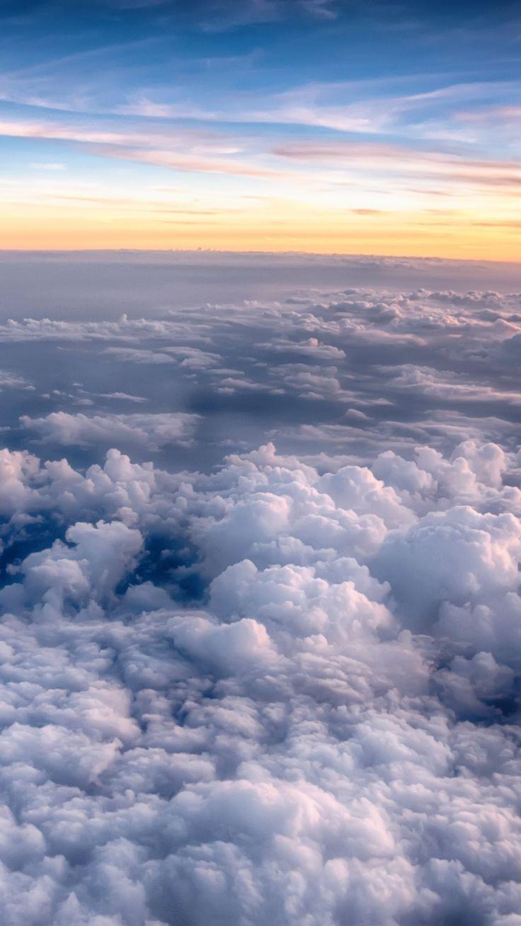 Sunset Sky Sea Of Clouds 1080x1920 Wallpaper In 2020 Cloud Wallpaper Iphone Wallpaper Sky Sky Aesthetic