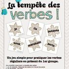 Great card game for practicing ER verb conjugation with Primary French Immersion students or Junior-Intermediate Core French students.