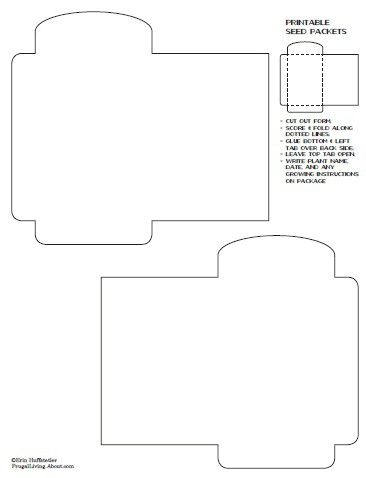 1000 images about templates on pinterest digital for Blank seed packet template