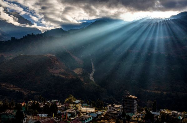 Beautiful Lachung, North Sikkim, India