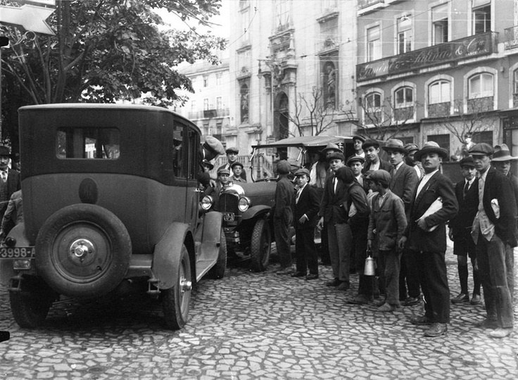 Choque frontal em Lisboa de 1928.