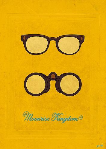 Minimalist Movie Poster: Moonrise Kingdom, Wes Anderson