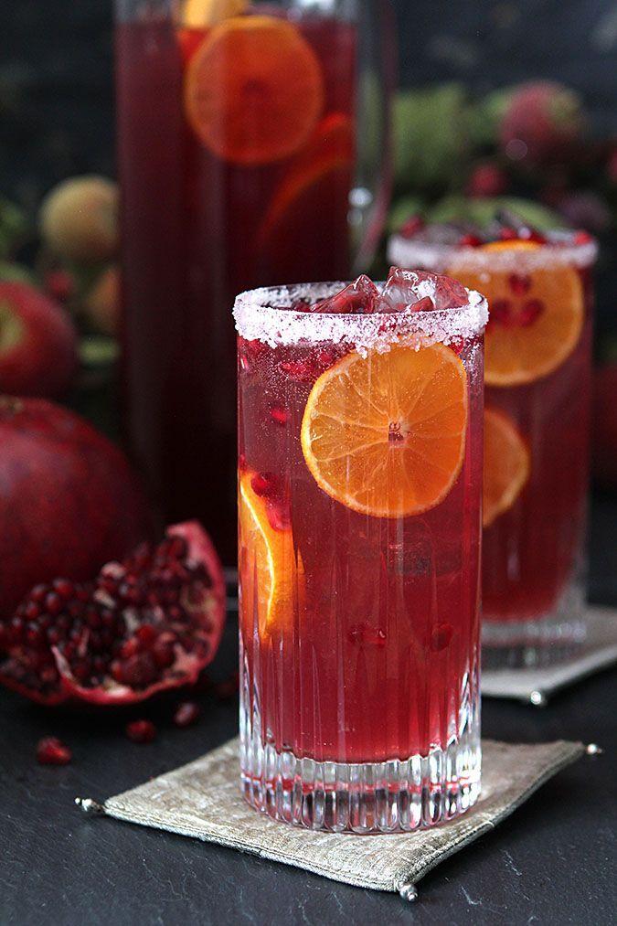 Pomegranate and Blood Orange Tequila Spritzer