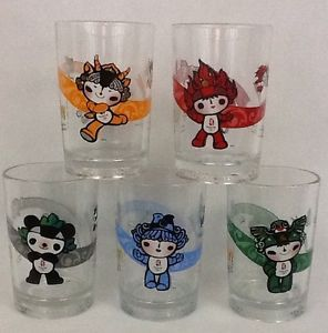 full set of the mcdonald's 2008 beijing olympic mascot glasses (i have orange and black already.)