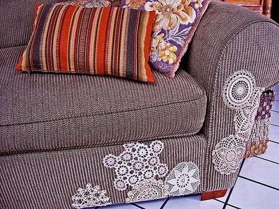 Maybe I should make some of these to cover the hole in my couch that the dog made!