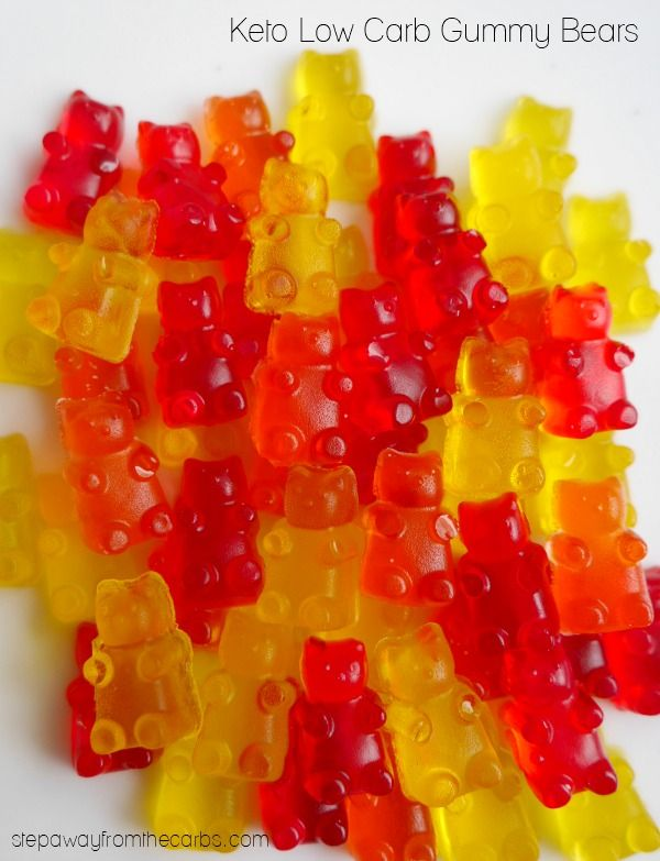 Keto Low Carb Gummy Bears - sugar free candy treats that the whole family will enjoy!