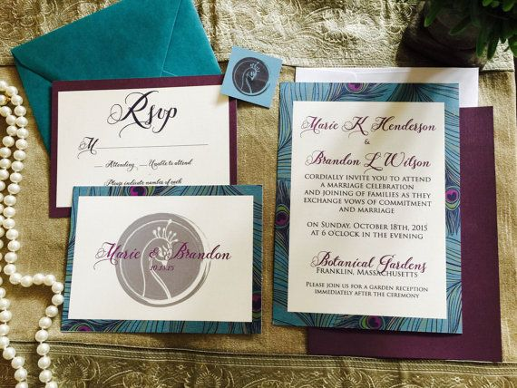 28 best Trendy Wedding Invitations 2015 images on Pinterest