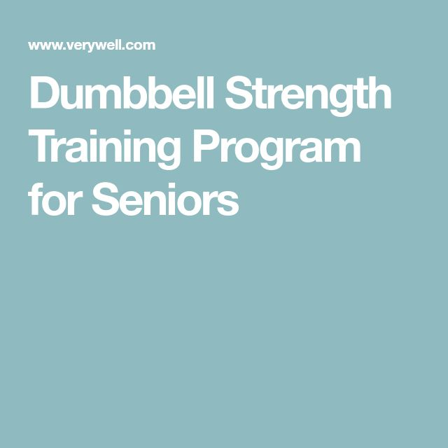 Dumbbell Strength Training Program for Seniors