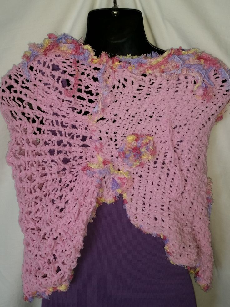 This is the back of my lastest  Pink Shawl that I will be selling